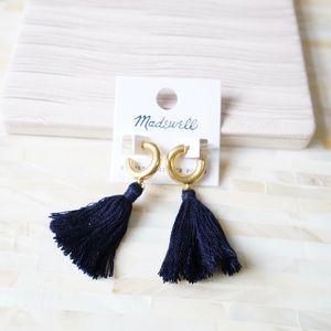 Madewell Lantern Tassel Earrings in Hthr Pacific